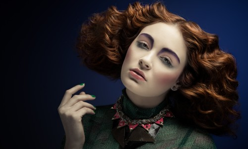 Red Head Waves - Hair & Make Up by Jaime Leigh McIntosh