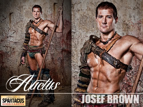 Josef Brown Aticus - Spartacus -Hairstyling & Make Up by Jaime Leigh